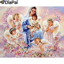 DIAPAI Diamond Painting 5D DIY 100% Full Square/Round Drill Angel girl beauty Embroidery Cross Stitch 3D Decor A24785
