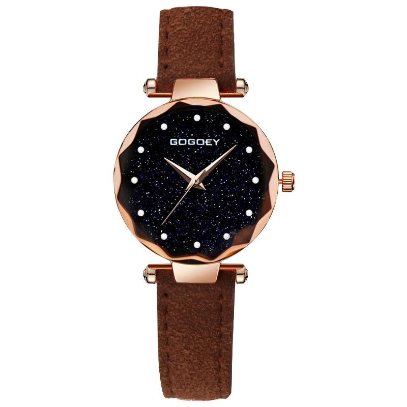 relojes mujer 18 Luxury Brand Gogoey Women Watches Personality romantic starry sky Wrist Watch Rhinestone Design Ladies Clock 20