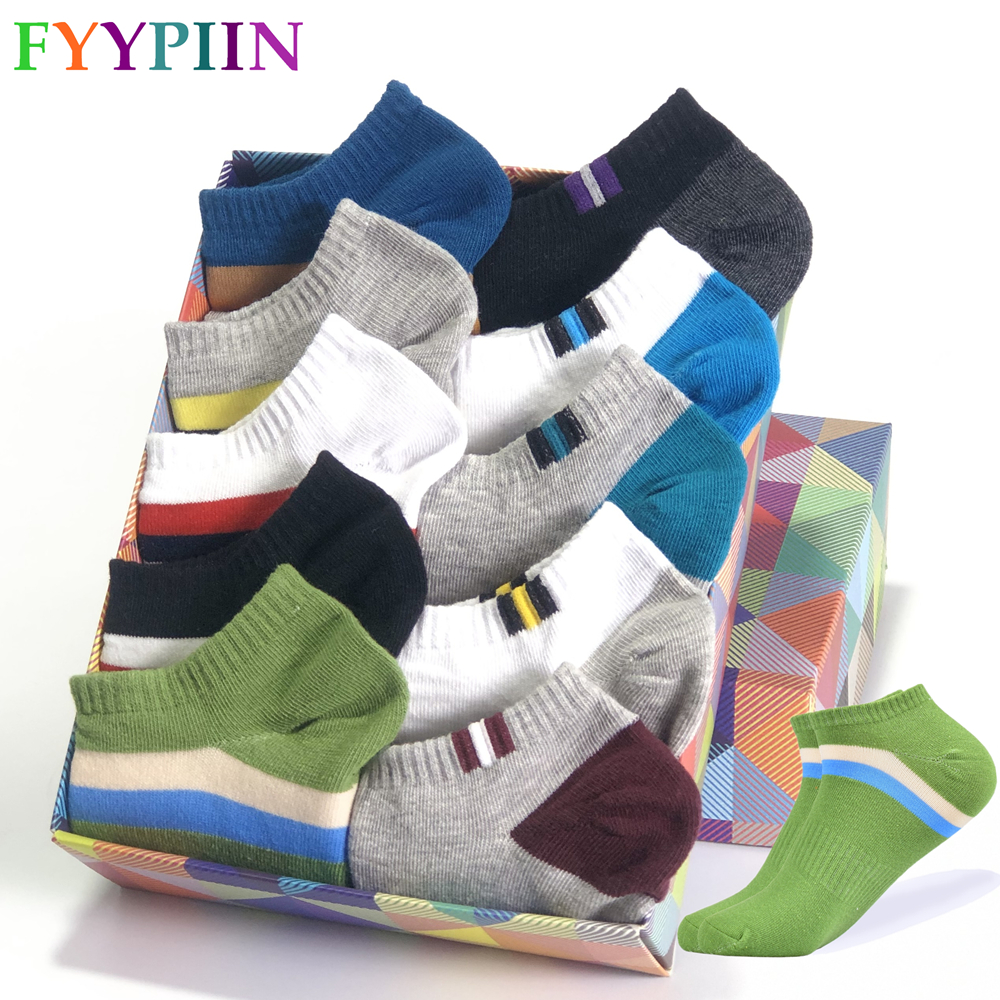 2020 Men's Socks Latest Design Boat Socks Short Summer Breathable Large Size (42-47) High Quality Colorful Cotton Socks Men