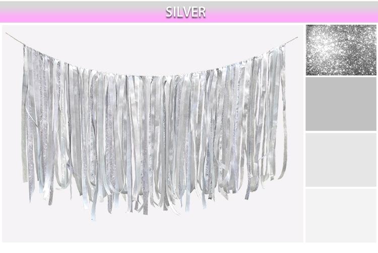 0.75M DIY pjenušava zlato srebro vrpca pozadina Vjenčanje rođendan - Za blagdane i zabave - Foto 6