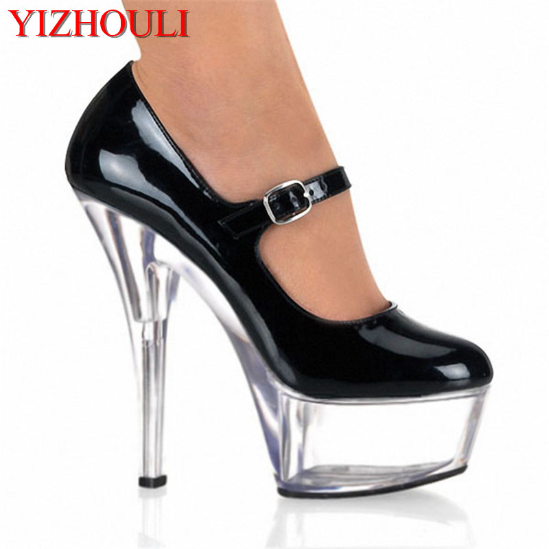 15cm sexy high heels workplace photo display crystal waterproof platform nightclub pole dancing dinner high heels