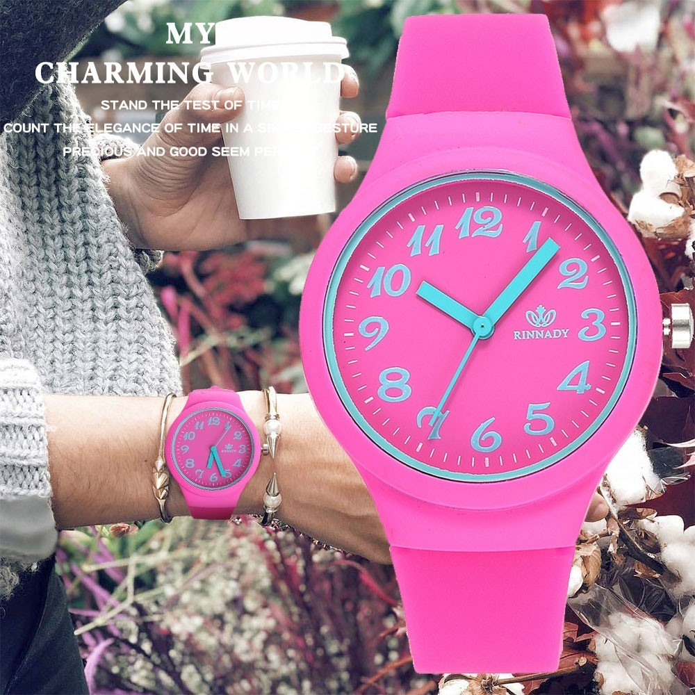 2018 Hot Fashion Jelly Silicone Women Watches Luxury Casual