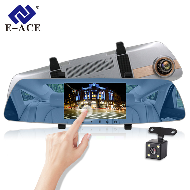 E ACE Car Dvr Full HD 1080P 5 Inch Touch Screen Video Recorder Night Vision Camera