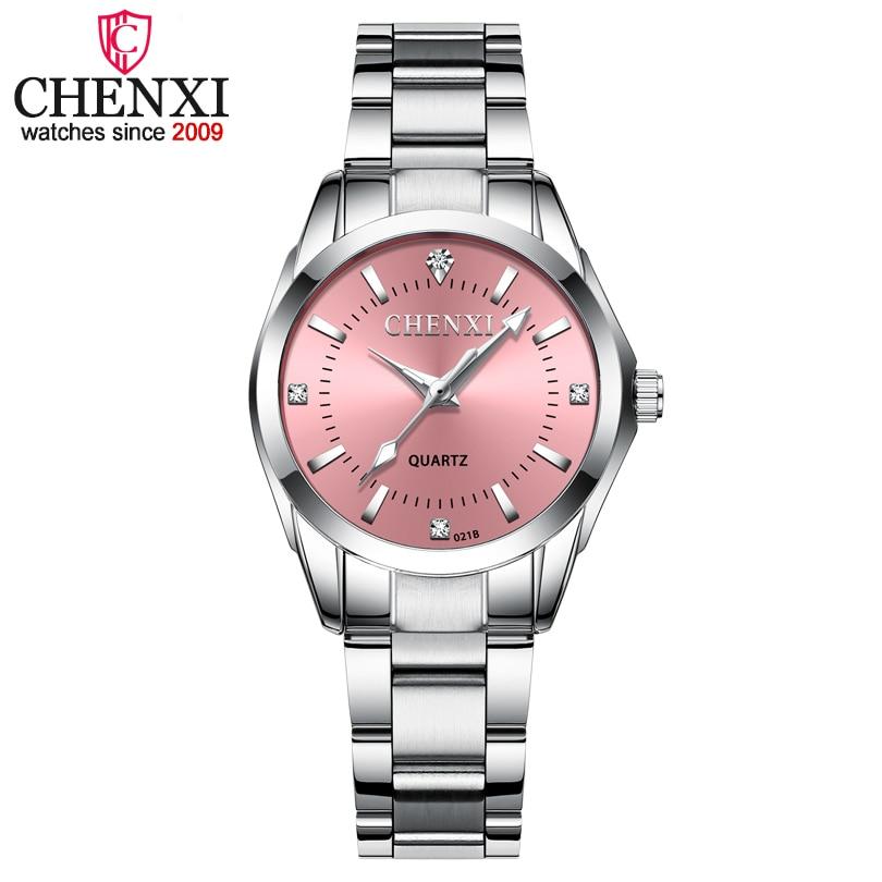 Mulheres Colorido Dial Reloj Mujer CHENXI Moda Concise Menina Relógios de Pulso Relógios de Quartzo Das Senhoras Strass Relógios Relógio Feminino