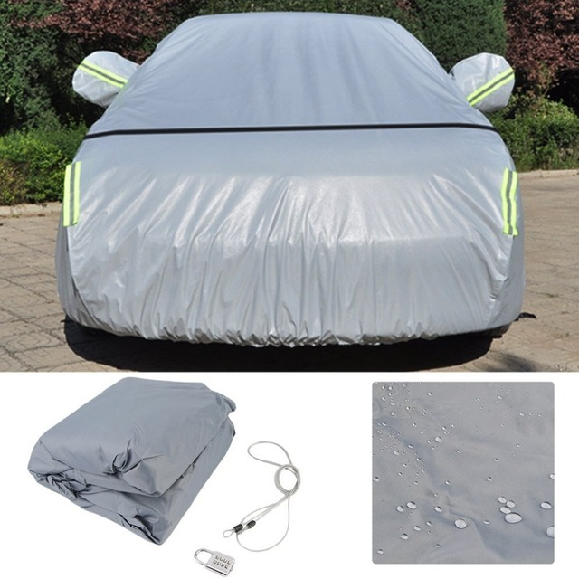CNSPEED Universal Car Cover 210D Oxford Cloth Outdoor Waterproof Dustproof UV