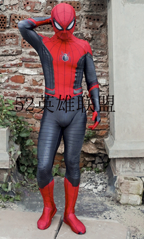 Far From Home Spiderman Costume Lycra Print Spider-man Zentai Suit Custom Made