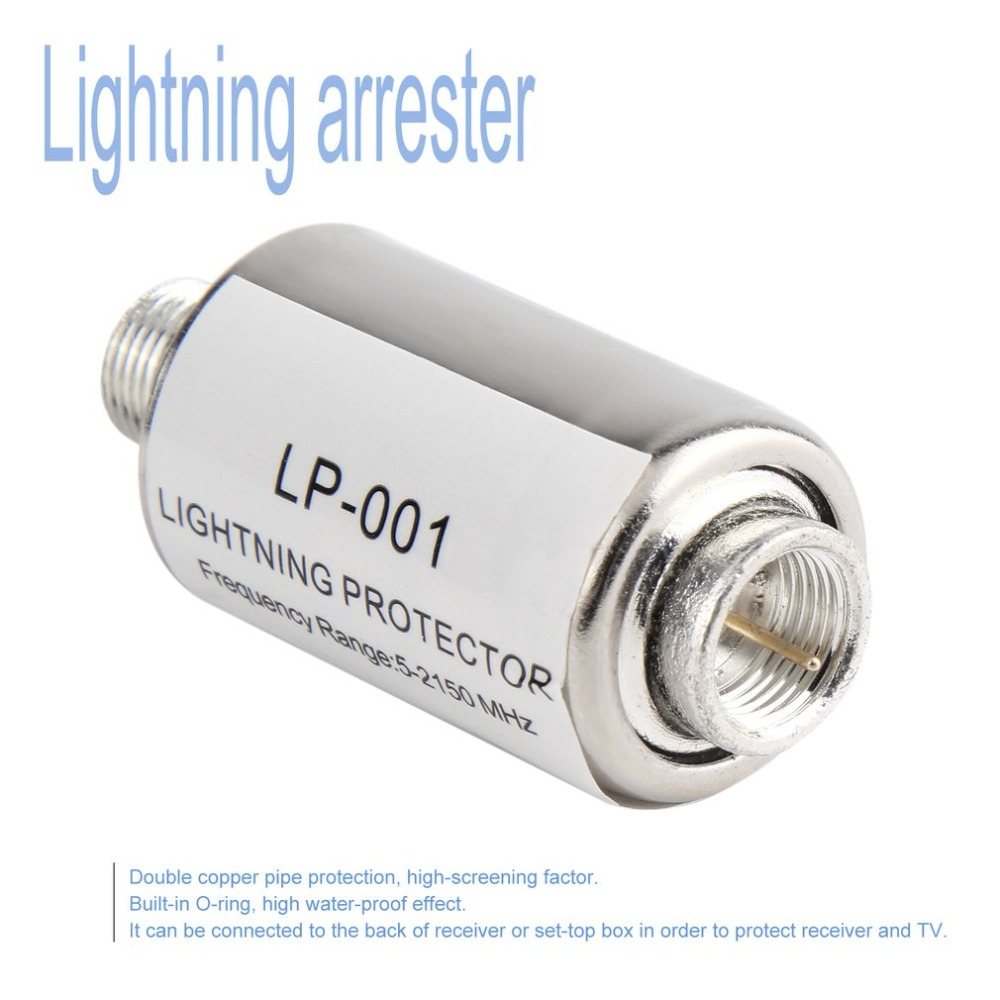 New Mini Lightning Arrester Low Insertion Loss Surge Protecting Device 5-2150MHz For CB Ham Receiver TV Lightning-proof GadgetsNew Mini Lightning Arrester Low Insertion Loss Surge Protecting Device 5-2150MHz For CB Ham Receiver TV Lightning-proof Gadgets