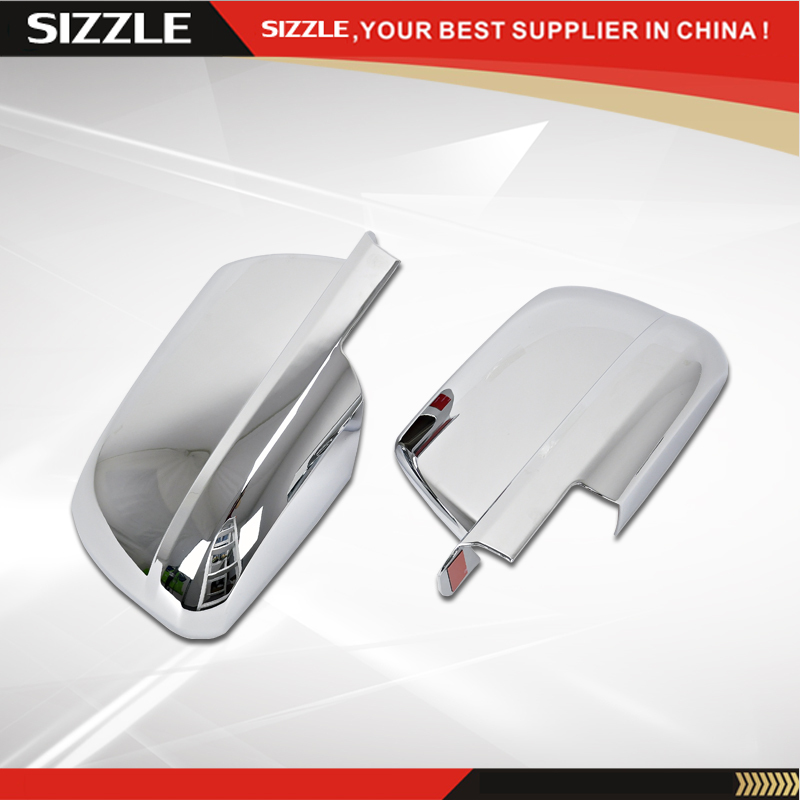 Accessories For Toyota Tundra Crew Max 2007-2015 Chrome Mirror Cover Full ABS Plastic Chrome Plating 3M Tape