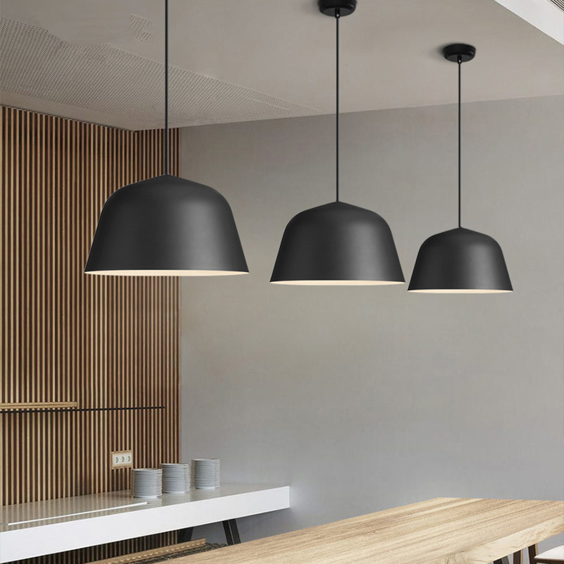 Review Modern Nordic AMBIT Pendant Lights Denmark Colored Macaron Aluminum LED pendant lamp Kitchen Restaurant Light Ceiling Fixtures in Pendant Lights from Lights - Contemporary small lantern pendant light In 2019