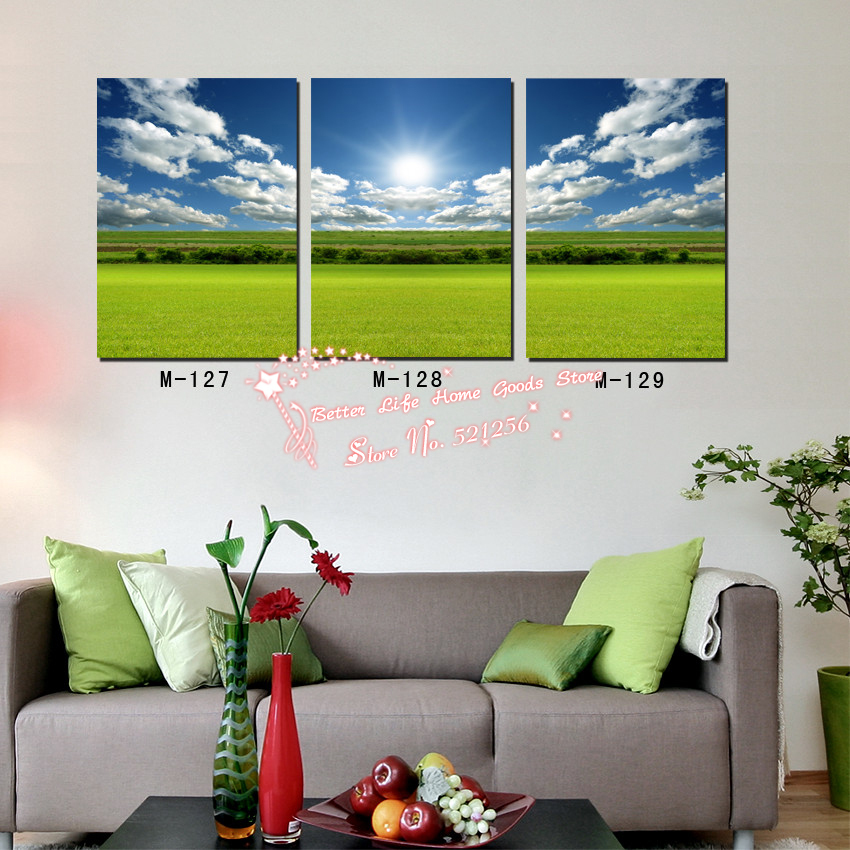 modern wall art home decoration printed oil painting pictures no frame 3 piece multi panel canvas