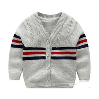 Cotton Sweater Baby Fashion Infant Clothes Button Boys Sweater 2016 Baby Boy Cardigan Sweater Baby Boys