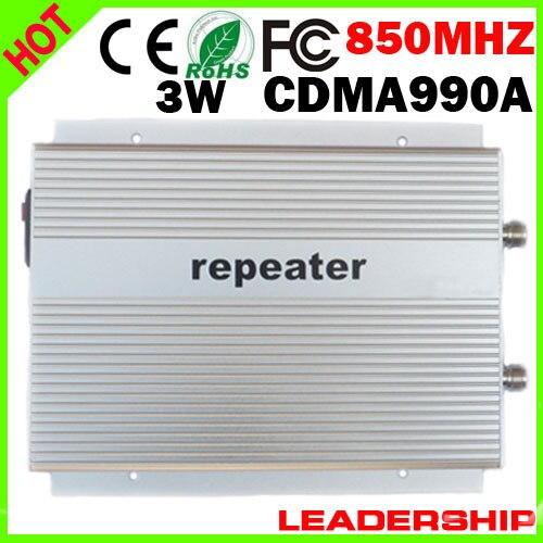 CDMA990A 3G Mobile Phone Repeater CDMA990A CDMA 850mhz 800mhz Booster CDMA 800mhz/850mhz Repeater 85dbm 3W EMS Free Shipping