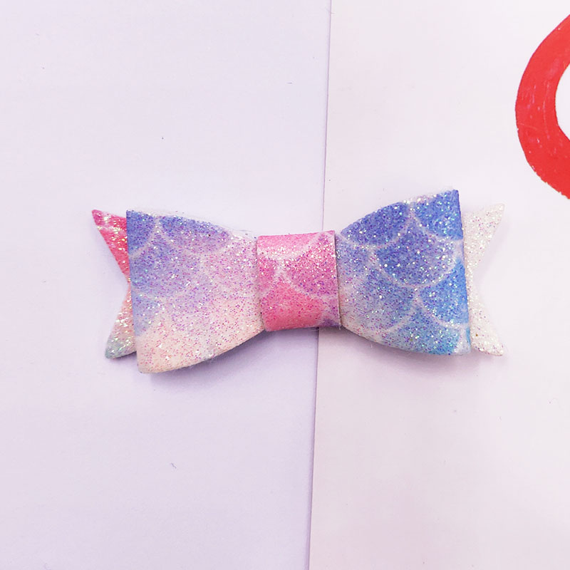 24pcs lot 5 2cm Glitter Bowknot Appliques for Headwear Boutique Hair Accessories in Patches from Home Garden