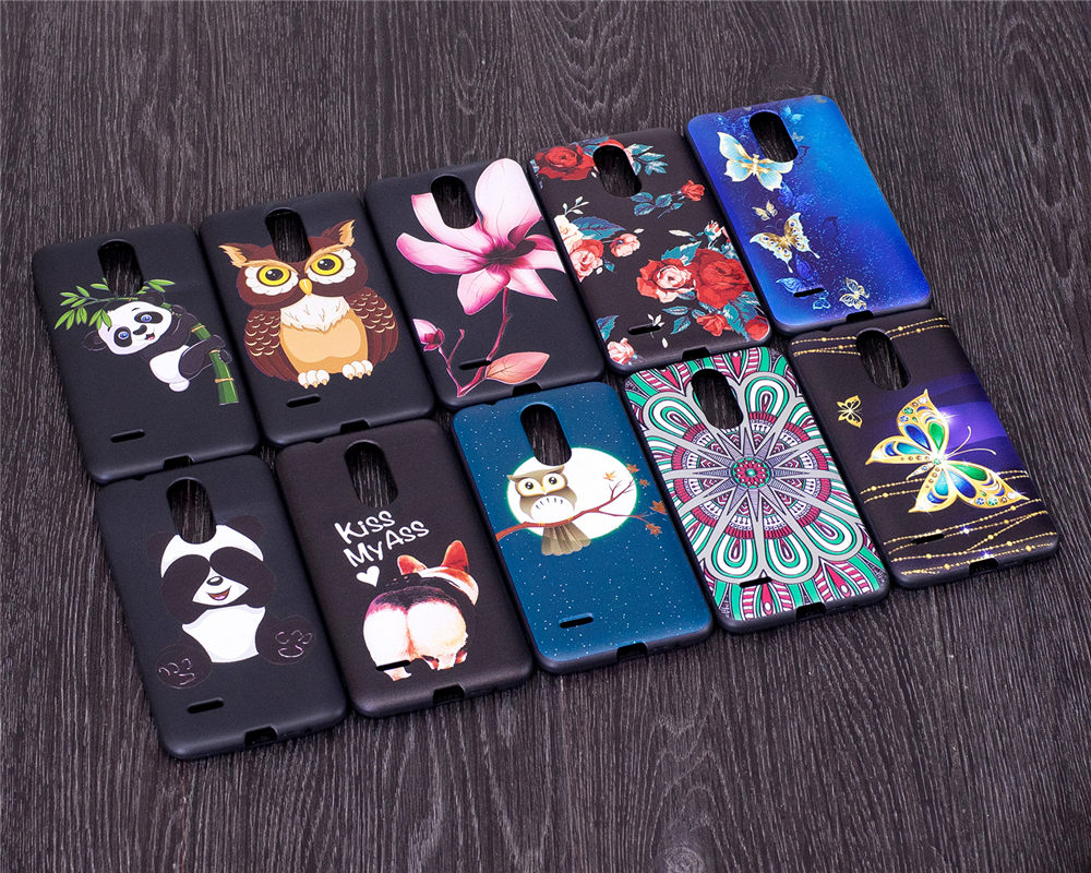 Cute Phone Cases Coque For LG X240 K8 (2017) Lte M200N M210 Covers Relief TPU Silicon Capas For LG K8 2017 Dual SIM X240 Cases