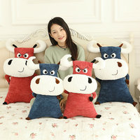 Cuddly Plush Toy Angry Bull Cow In Premium Short Fur Stuffed With 3D Cotton Cushion Pillow Gift 50cm to 70cm Tall 2 colors