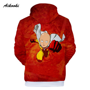 Aikooki Men's One Punch Man 3D Hoodies Sweatshirt Game Anime Autumn/Winter Handsome Coats Men/Women 3D hoodies ONE PUNCH-MAN 1