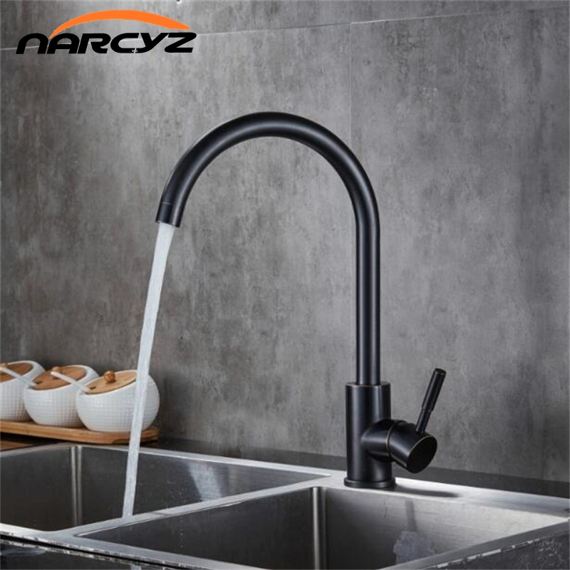 NEW kitchen Faucet Black bronze kitchen sink hot and cold ...