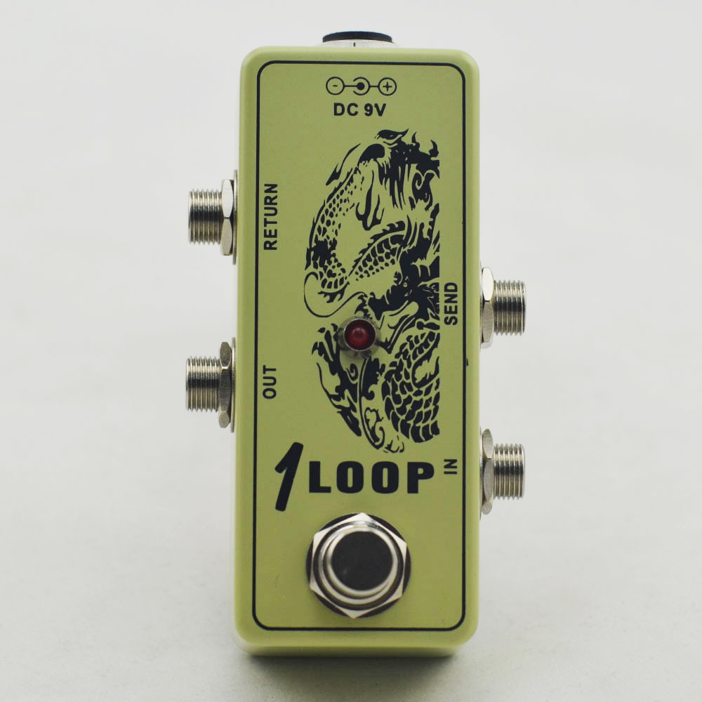 Mini Looper Pedal Guitar switch  Effect Pedal Looper Switch  true bypass  for guitar pedal parts mooer ensemble queen bass chorus effect pedal mini guitar effects true bypass with free connector and footswitch topper