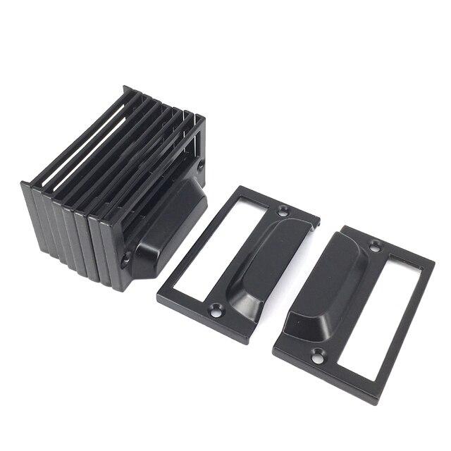 10pcs Black Drawer Label Frame Card Holder For Shelf Library Display