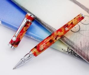 Image 5 - Fuliwen Celluloid Rollerball עט עם מילוי, עלה אדר כתום אדום אופנה כתיבה עט עסקי משרד בית ספר