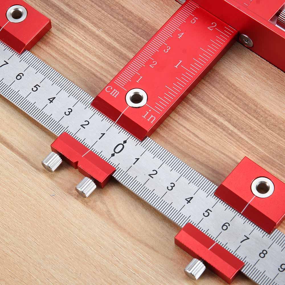 Ensemble d'outils de gabarit de poinçon de trou manchon de guidage de foret détachable outils de forage de bois de tiroir d'armoire JDH99
