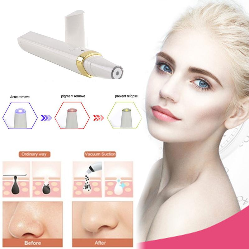 3 Colors LED Soft Laser Acne Pen Wrinkle Removal Light Treatment Skin Face Diamond PeelingTool plasma pen chic mid waist button design ripped denim shorts for women