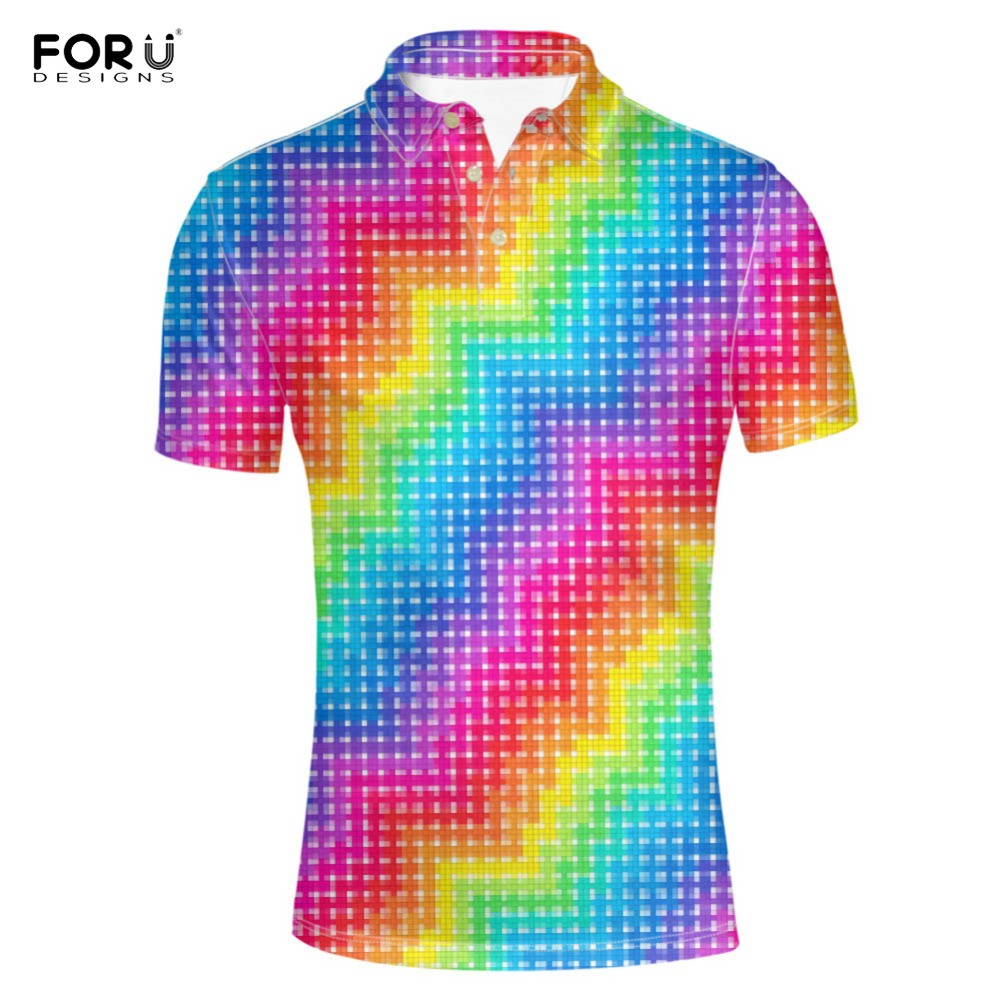 FORUDESIGNS <font><b>Shirt</b></font> Casual 3D Print Summer Tees <font><b>Men's</b></font> <font><b>Shirt</b></font> Loose <font><b>Big</b></font> Plus <font><b>Size</b></font> Short Sleeve <font><b>Shirts</b></font> Camisa <font><b>Polos</b></font> <font><b>Shirts</b></font> 2018 image