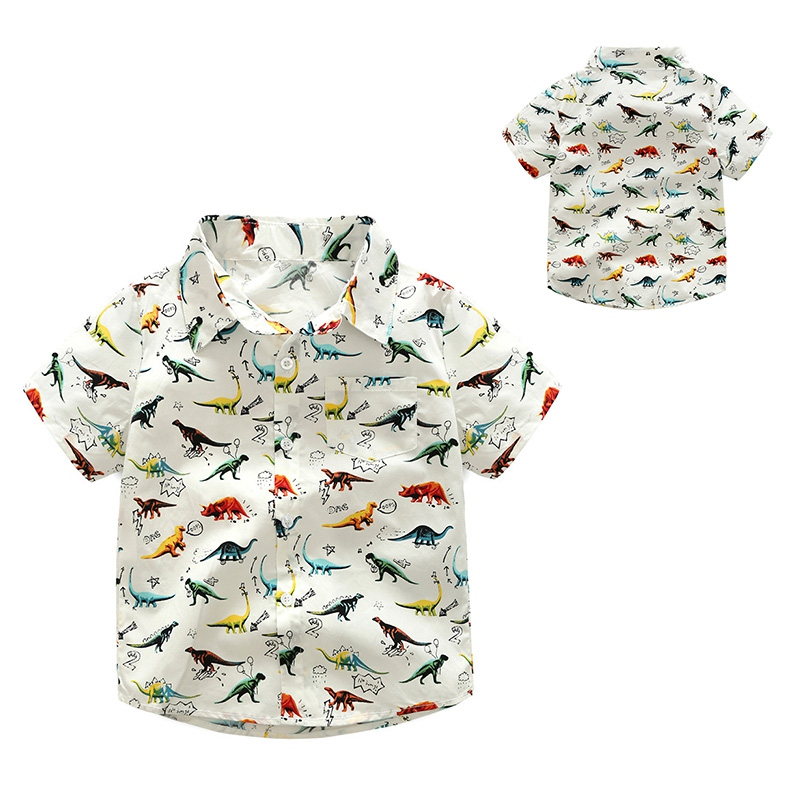 lucky Child Childrens Clothing Boy Long Sleeve Dinosaur Pattern Casual Shirt Fashion Cotton Spring Autumn Children Clotheslucky Child Childrens Clothing Boy Long Sleeve Dinosaur Pattern Casual Shirt Fashion Cotton Spring Autumn Children Clothes