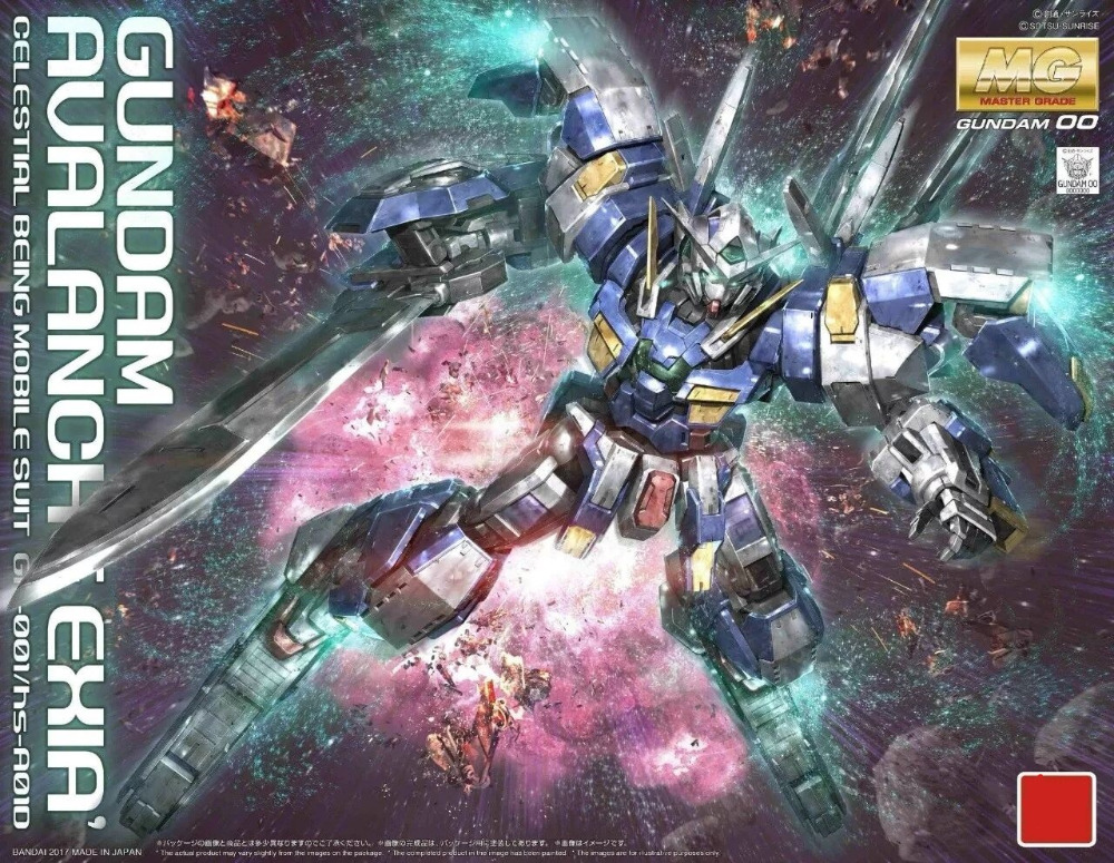 Japaness BANDAI Original Gundam MG 1/100 Model  AVALANCHE EXIA GUNDAM 00 PB STYLE Mobile Suit Kids Toys With Holder