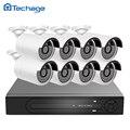Techage h.265 4 k poe 8ch nvr sistema de cctv 8 pcs 4.0mp 2592*1520 Câmera IP IR Night Vision Segurança Vigilância de Vídeo Ao Ar Livre Kit