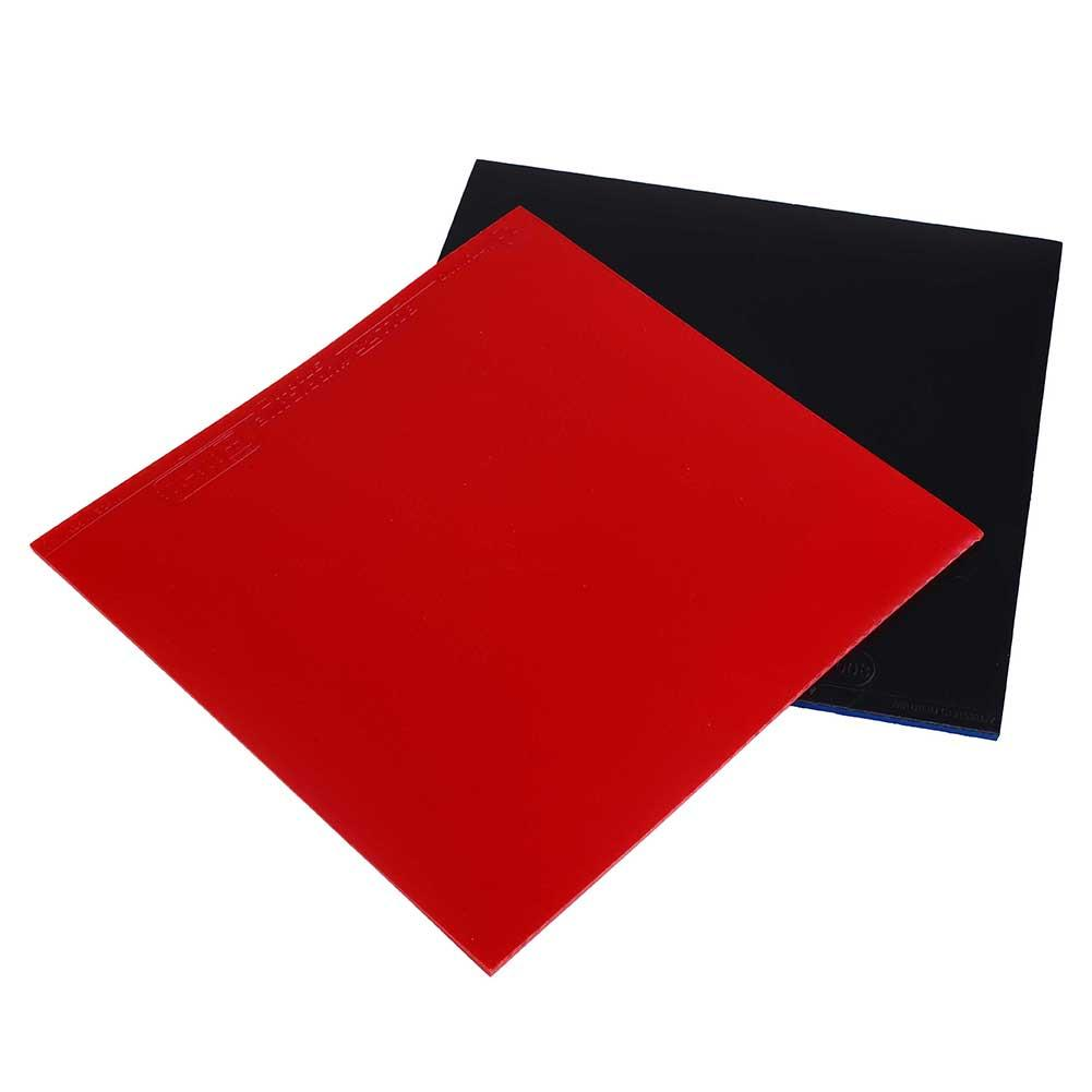 2Pcs Table Tennis Racket Pips In PingPong Rubber Sponge Red/Black Quality