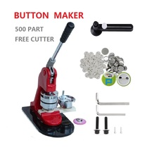 Hot Sales 37mm button making machine kit badge maker set with 500pcs pin button badge