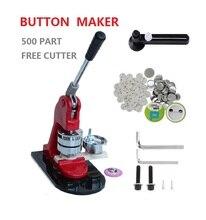 Vendite calde 37mm che fa la macchina pulsante kit badge maker set con 500pcs pulsante pin distintivo