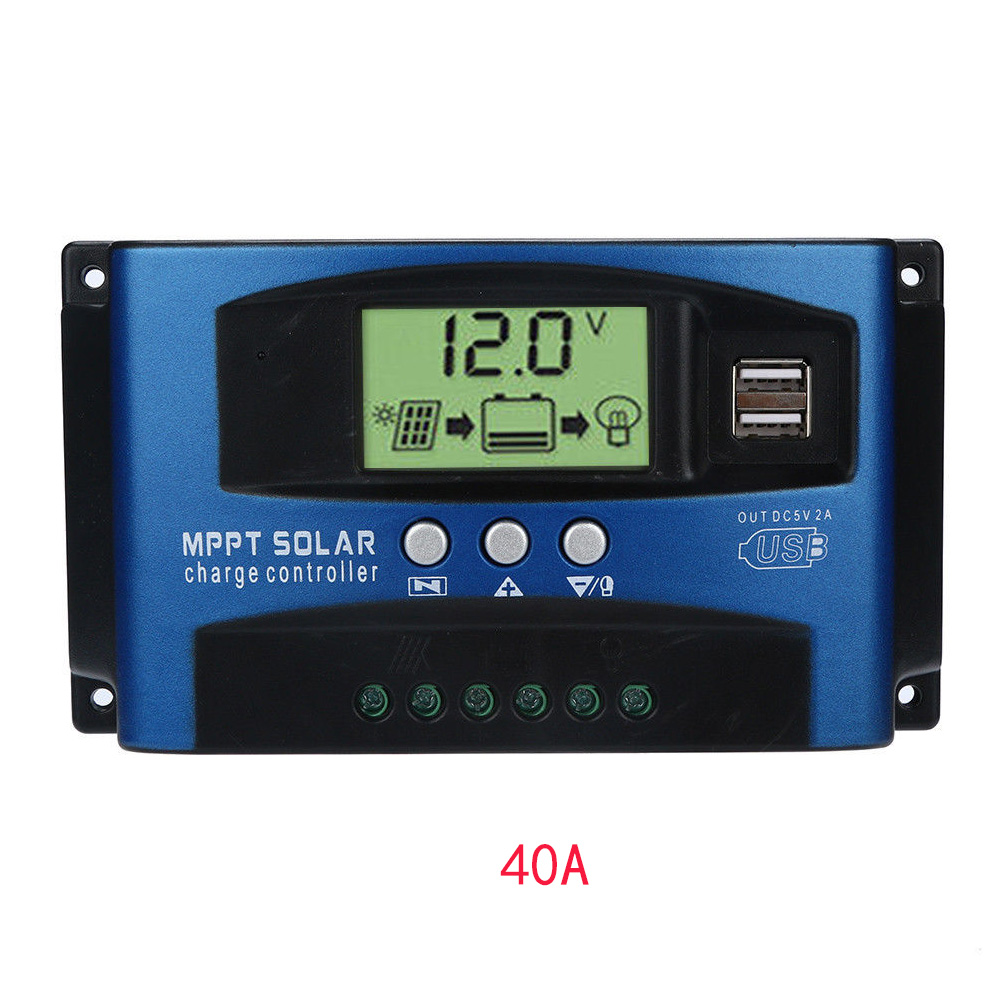 Charge Equipment Solar Controllers Regulator LCD Display Automatic  Home Panel Protect Battery Tracking MPPTCharge Equipment Solar Controllers Regulator LCD Display Automatic  Home Panel Protect Battery Tracking MPPT