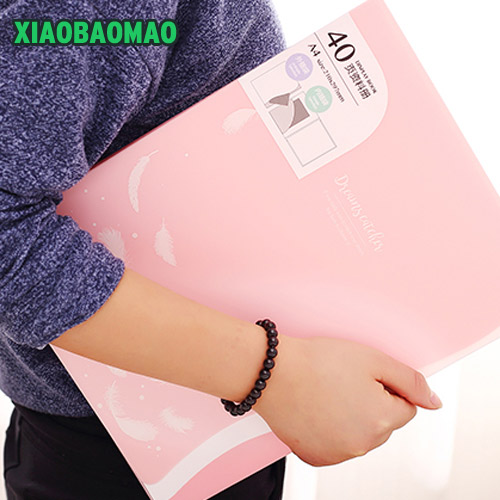 2017 new candy color A4 File Folder for documents Fresh Paper folder Data Book Folder 40 pages A4 clip 20/30/40 page a5 20 page 30 page 40 page 60 page file folder document folder for files sorting practical supplies for office and school