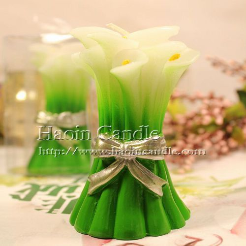 6pcs Calla Lily Design Candle Favors Wedding Party Gifts Giveaway Centerpieces Accessories Supplies Bridal Shower