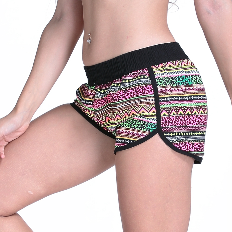 Surfing & Beach Shorts Candid Europe American Womens Summer Beach Shorts Europe Style Print Beach Pants Seaby Holiday Bermuda Shorts Dropshipping Elegant And Graceful