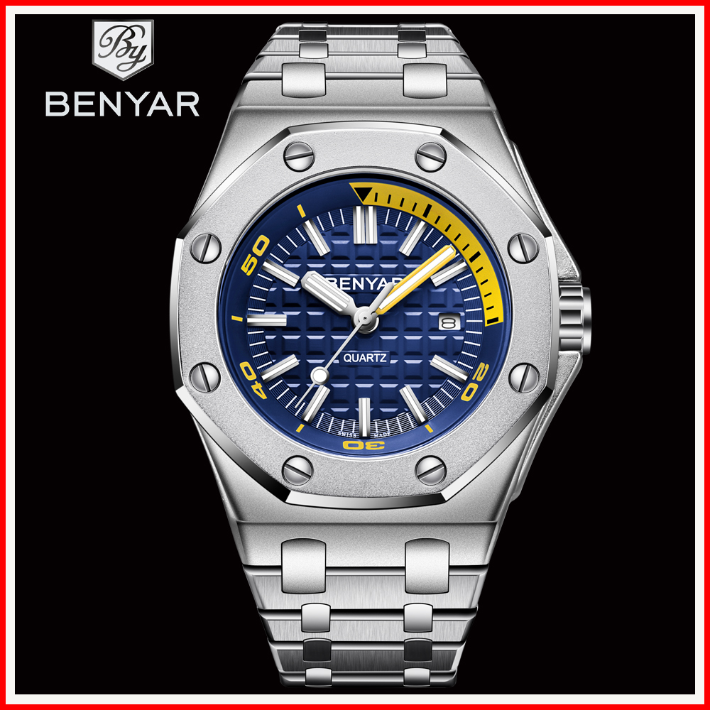 2019 BENYAR Fashion Men Watches Male Top Brand Luxury Quartz Watch Men Casual Waterproof Sports WristWatch Relogio Masculino Box2019 BENYAR Fashion Men Watches Male Top Brand Luxury Quartz Watch Men Casual Waterproof Sports WristWatch Relogio Masculino Box