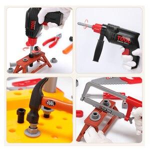 Image 4 - Детский набор инструментов инженер Моделирование Инструменты для ремонта игрушка Ax столярное сверло комплект отверток для ремонта играть набор игрушек для детей подарок