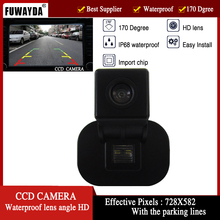 FUWAYDA CCD night vision buckup reverse car rearview font b camera b font parking lines for