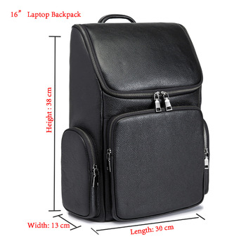 Design Male Quality Original Leather Casual Fashion Large Capacity Travel School College Bag Backpack Daypack For Men 131419-18