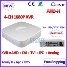 4Channel DVR 1080P Hybrid AHDVR 4ch for AHD-H -M 960H D1 camera P2P IP recorder ONVIF Network mini NVR H.264 for 2MP IP Camera