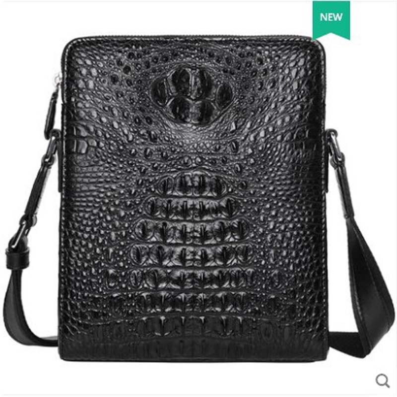 Pugete 2019 Новая мужская сумка из крокодиловой кожи, кожаная деловая сумка на одно плечо, молодежная сумка для отдыха, модная мужская сумка из крокодиловой кожи