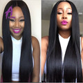 7A Peruvian Virgin Hair With Closure Peruvian Straight Hair 3bundles With Closure Free, Middle Part 100% Human Hair With Closure