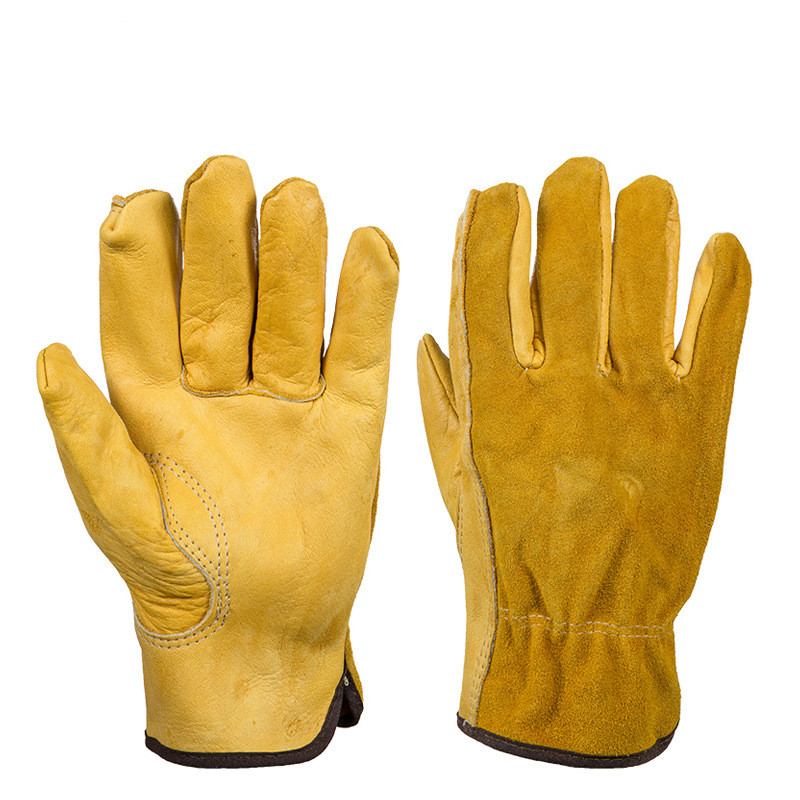 1Pair Cowhide Workplace Safety Gloves Flower Gardening Applies Rubber Puncture-proof Wear-resistant Planting Flower Arrangement1Pair Cowhide Workplace Safety Gloves Flower Gardening Applies Rubber Puncture-proof Wear-resistant Planting Flower Arrangement