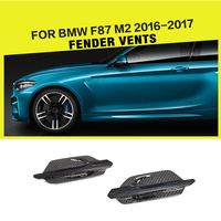 Carbon Fiber Racing Fender Air Intake Flow Vents Trims for BMW 2 Series F87 M2 Base Coupe 2 Door 2016 2017