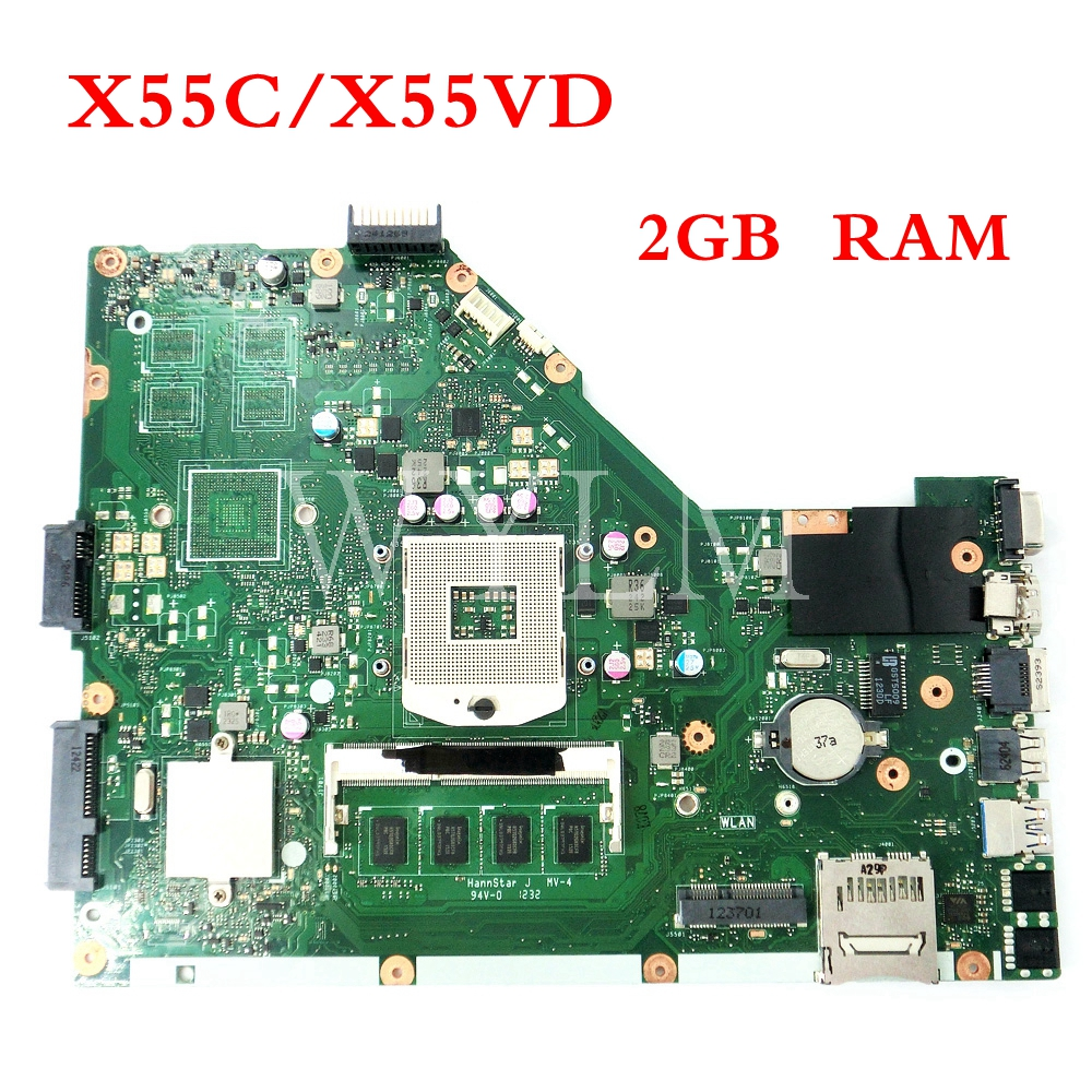 X55C motherboard 2GB RAM For ASUS X55V X55VD X55C DDR3 Laptop mainboard MAIN BOARD REV2.1/2.2 100% Tested WorkingX55C motherboard 2GB RAM For ASUS X55V X55VD X55C DDR3 Laptop mainboard MAIN BOARD REV2.1/2.2 100% Tested Working