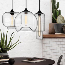 Restaurant Bar Single Head Creative Pendant Lights Cafe Nordic Minimalist clear Glass Staircase Pendant Lamp indoor dining lamp