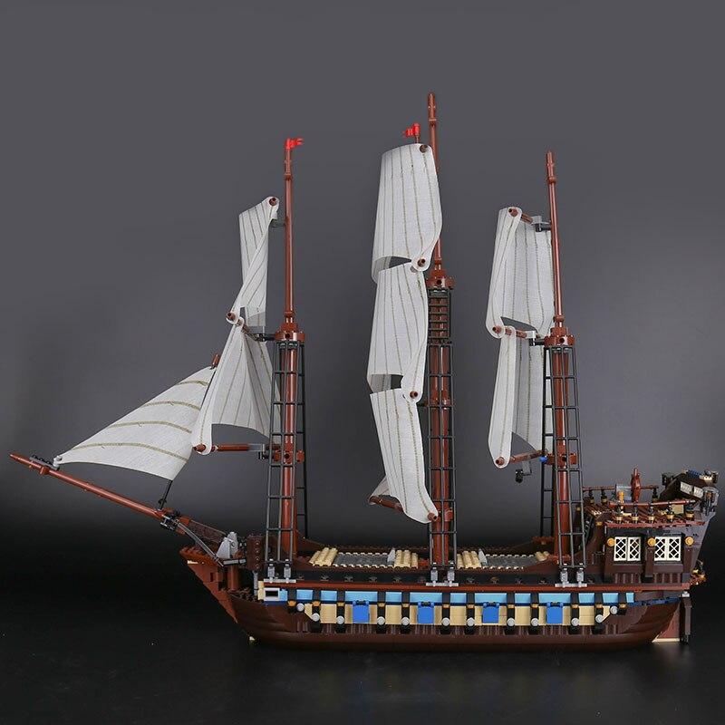 Oyuncaklar ve Hobi Ürünleri'ten Bloklar'de DHL 22001 Korsan Gemisi savaş gemileri Modeli Yapı Kitleri Blok Tuğla Oyuncaklar 1717 adet Ile Uyumlu 10210 Çocuk hediye oyuncaklar Modeli'da  Grup 2