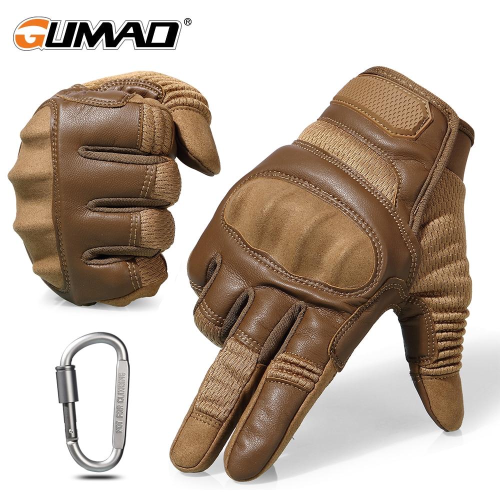 Guantes tácticos de nudillo duro de la pantalla táctil del ejército combate militar Airsoft al aire libre escalada de tiro de Paintball guantes de dedo completo